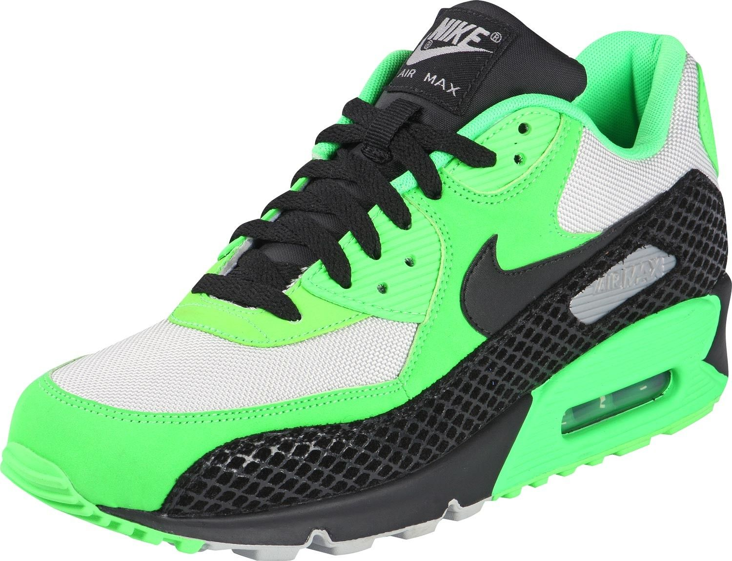 Nike Air Max 90 Premium shoe for men Neon Green Black HOT