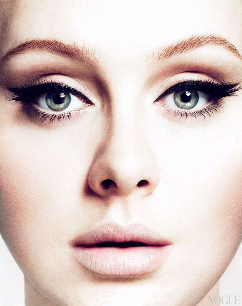 Theres always an adele lookpink shades on eyes and cheeksNude