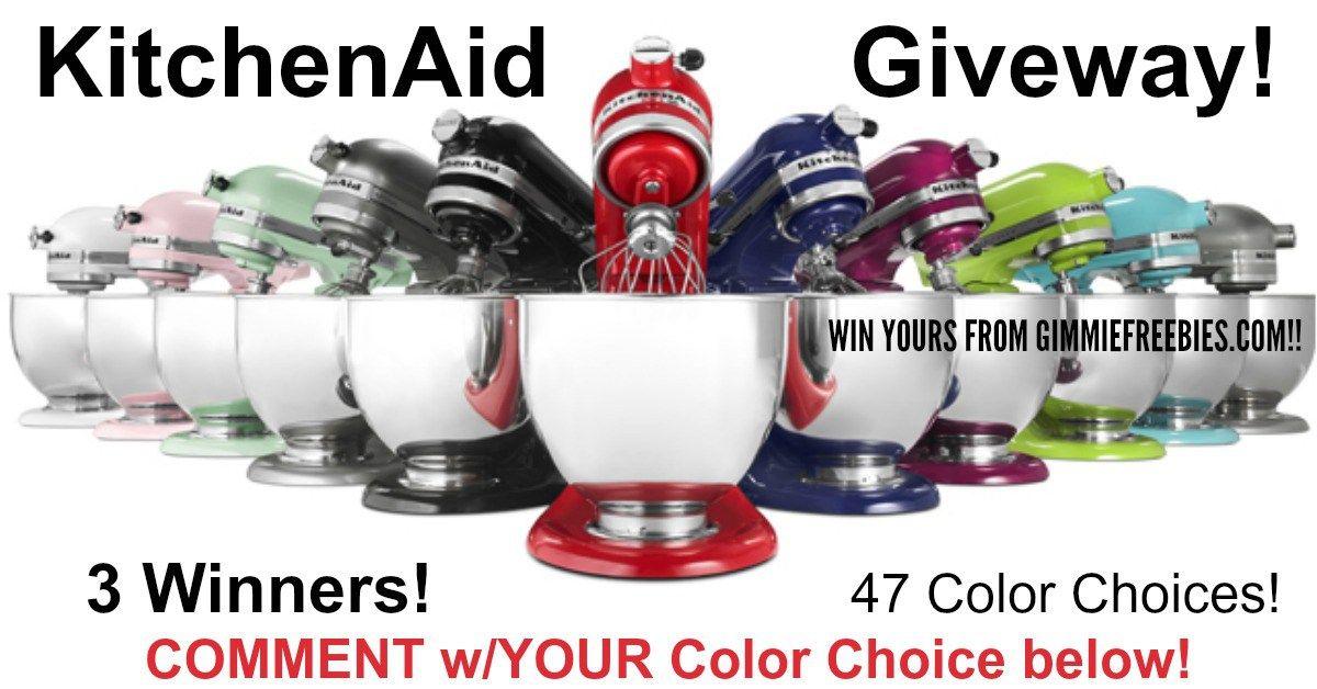 3 win kitchenaid artisan series stand mixer giveaway