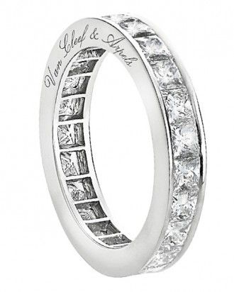Van Cleef Arpels Eternity Wedding Band Featuring Diamonds Set In Platinum 21 000 Vancleefarpels