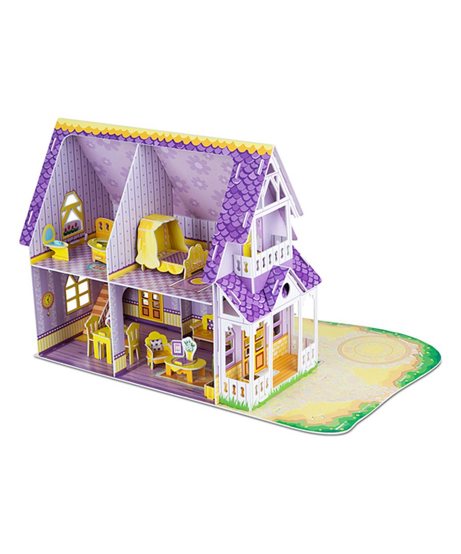 Look at this melissa doug pretty purple dollhouse 3d