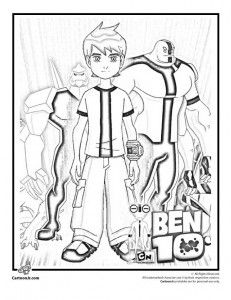Ben 10 Coloring 3 231x300 Pages