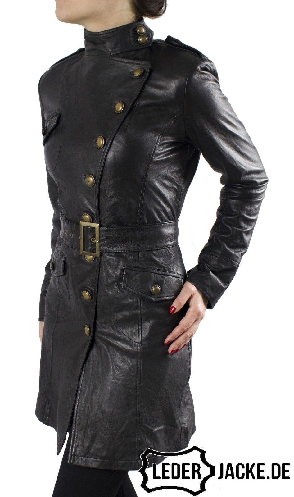 details zu damen echt leder jacke mantel gehrock viktoria. Black Bedroom Furniture Sets. Home Design Ideas