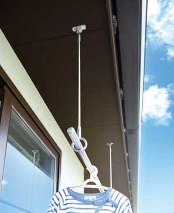 屋外ベランダ天井付け用物干し金物spo型設置イメージ 天井 物干し 軒下
