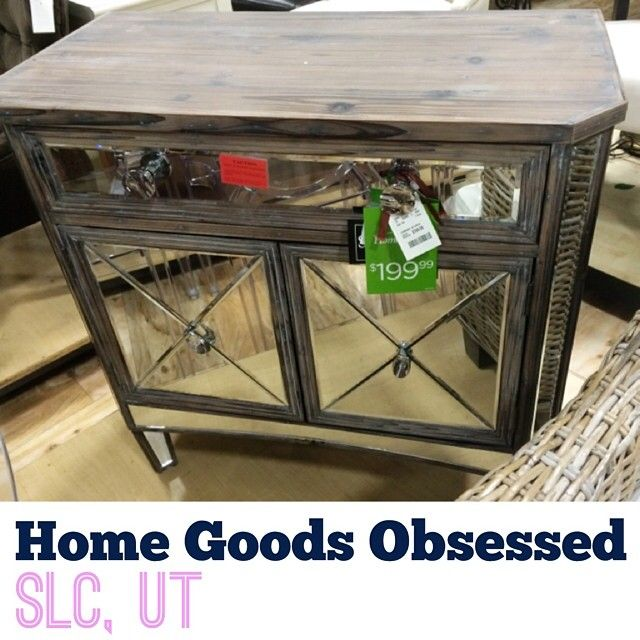 Ash Wood And Mirrored Console For $199.99. Score! @homegoods  #homegoodsobsessed #homegoods