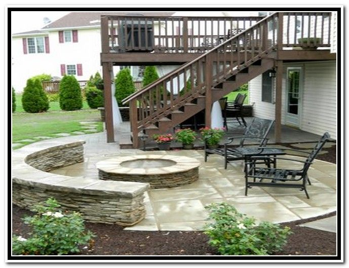 patio under deck with separate firepit patio patios deck designs decorating ideas rate my space backyard pinterest decking patios and - Deck And Patio Design Ideas