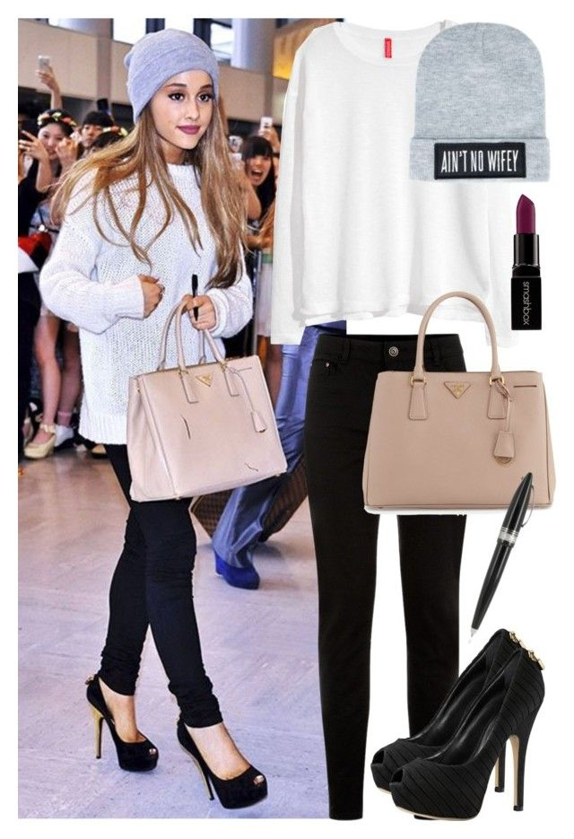 e53cbe15d13f Steal Her Style: Ariana Grande! by itsfashion-5ever on Polyvore featuring  polyvore fashion style H&M New Look Prada Dimepiece Smashbox Pineider  clothing