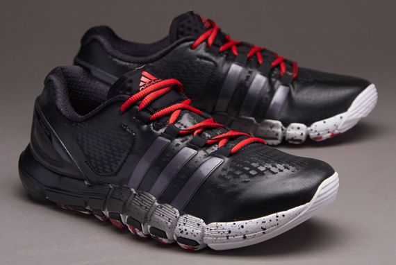 adidas Adipure Crazyquick Trainer Shoes - Mens Football Shoes - Mens Running Shoes - Black-Night Metallic-Vivid Red (size - UK 6) #pdsmostwanted
