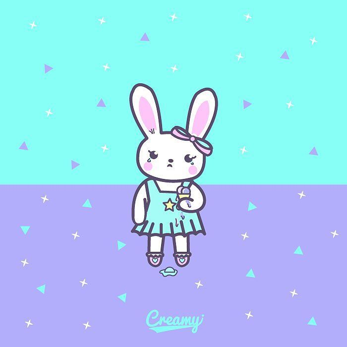 Let me introduce to you the little Pansy  Tutsy's cousin is a tiny bunny who gets mad with everything she's not agree with also in love with Payasito  More info and a little sneak peek soon in the blog #creamypop by creamy_pop You can follow me at @JayneKitsch