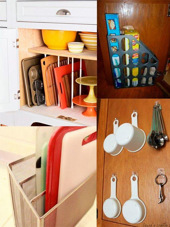 Como organizar a cozinha arm rios bem arrumados - Como organizar armarios ...