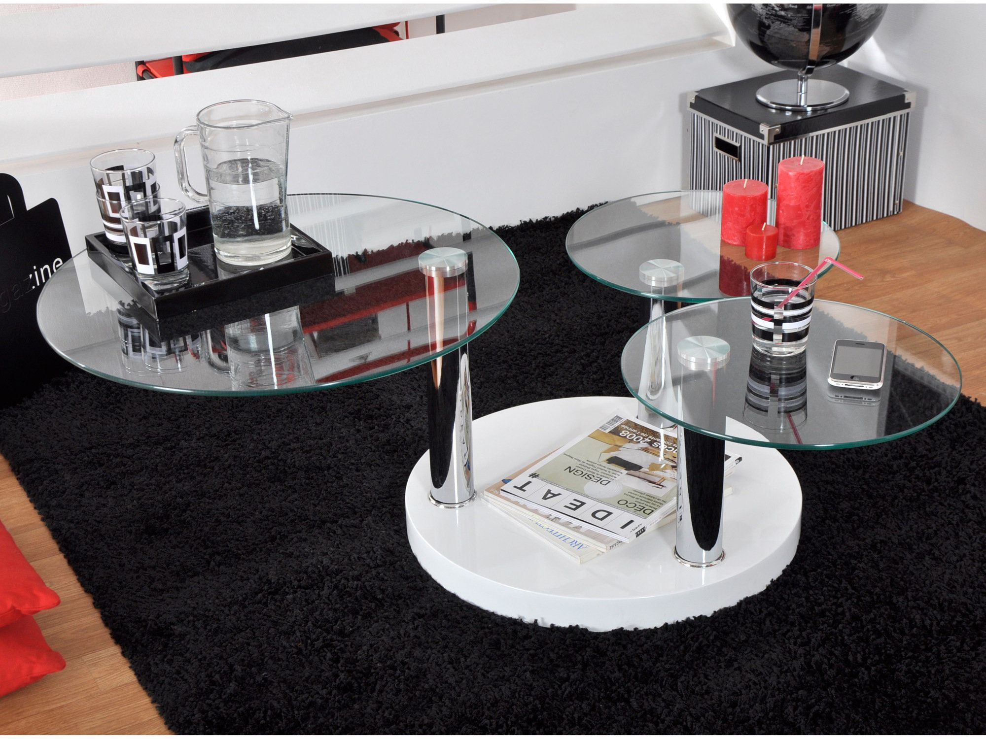 Table Verre Rectangle Pied Central 180cm Jpg 950 710 Dining