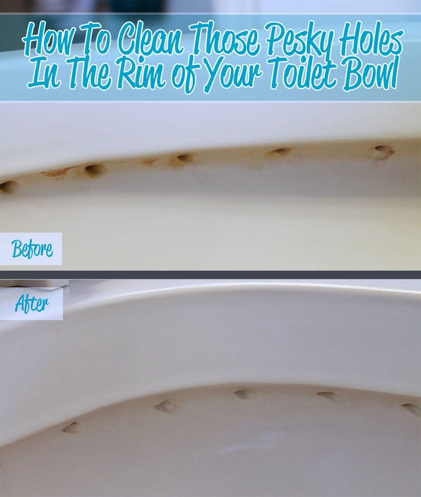 How To Clean The Holes In The Rim Of Your Toilet Bowl Toilet