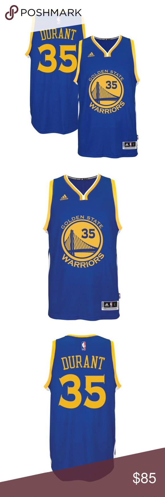 Golden State Warriors Kevin Durant 35 Jersey Adidas