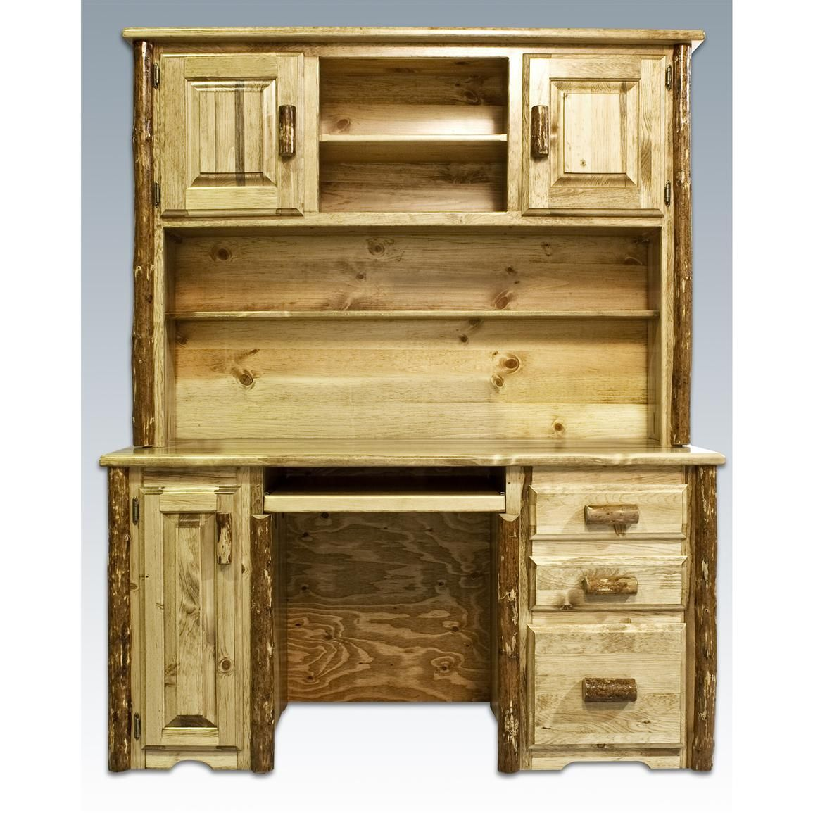 Montana Woodworks Glacier Country Computer Desk With Hutch