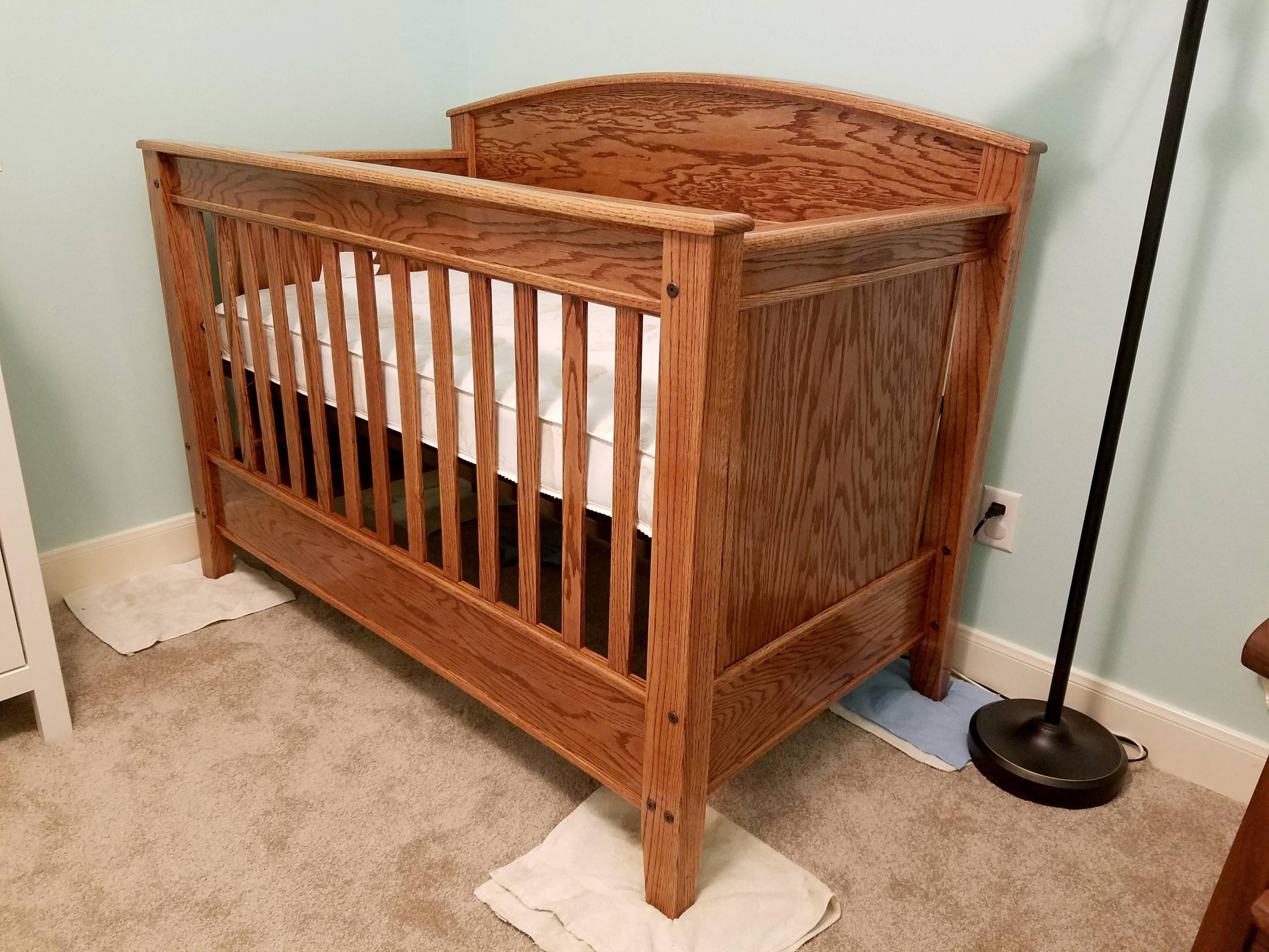red oak convertible crib (quickcrafter)  best of diy  pinterest  - red oak convertible crib (quickcrafter)