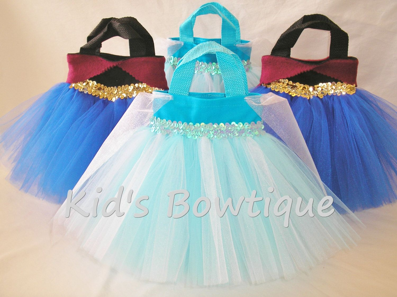 6 Party Favor Tutu Bags for a Disney Frozen Anna by kidsbowtique, $59.70