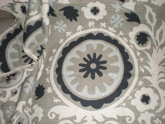 Suzani Black Stone/Denton Fabric  Premier by CreateASpaceYouLove, $25.00