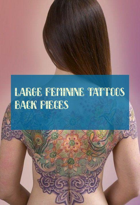 große weibliche tattoos rückenstücke