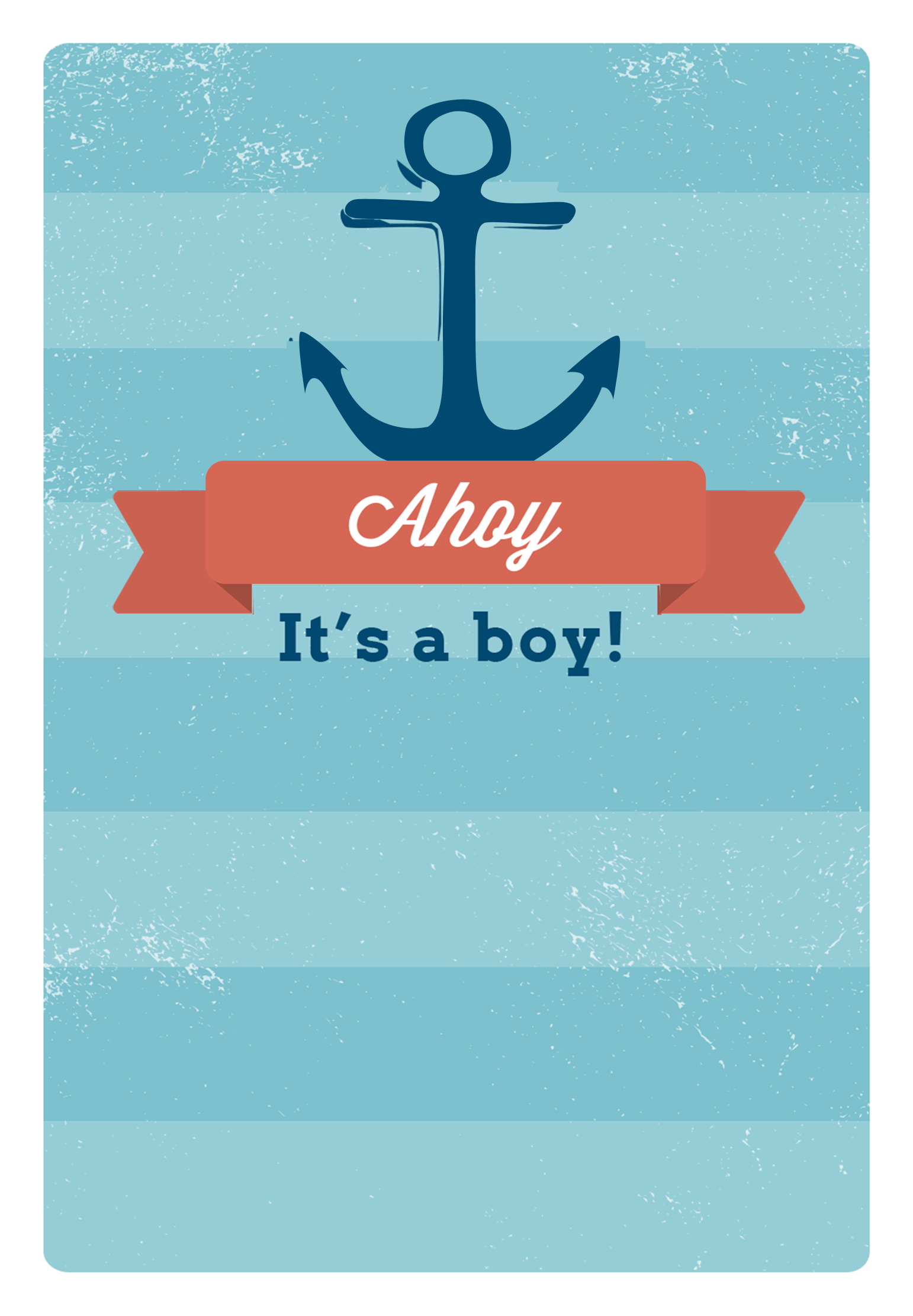 ahoy its a boy free printable baby shower invitation template greetings island