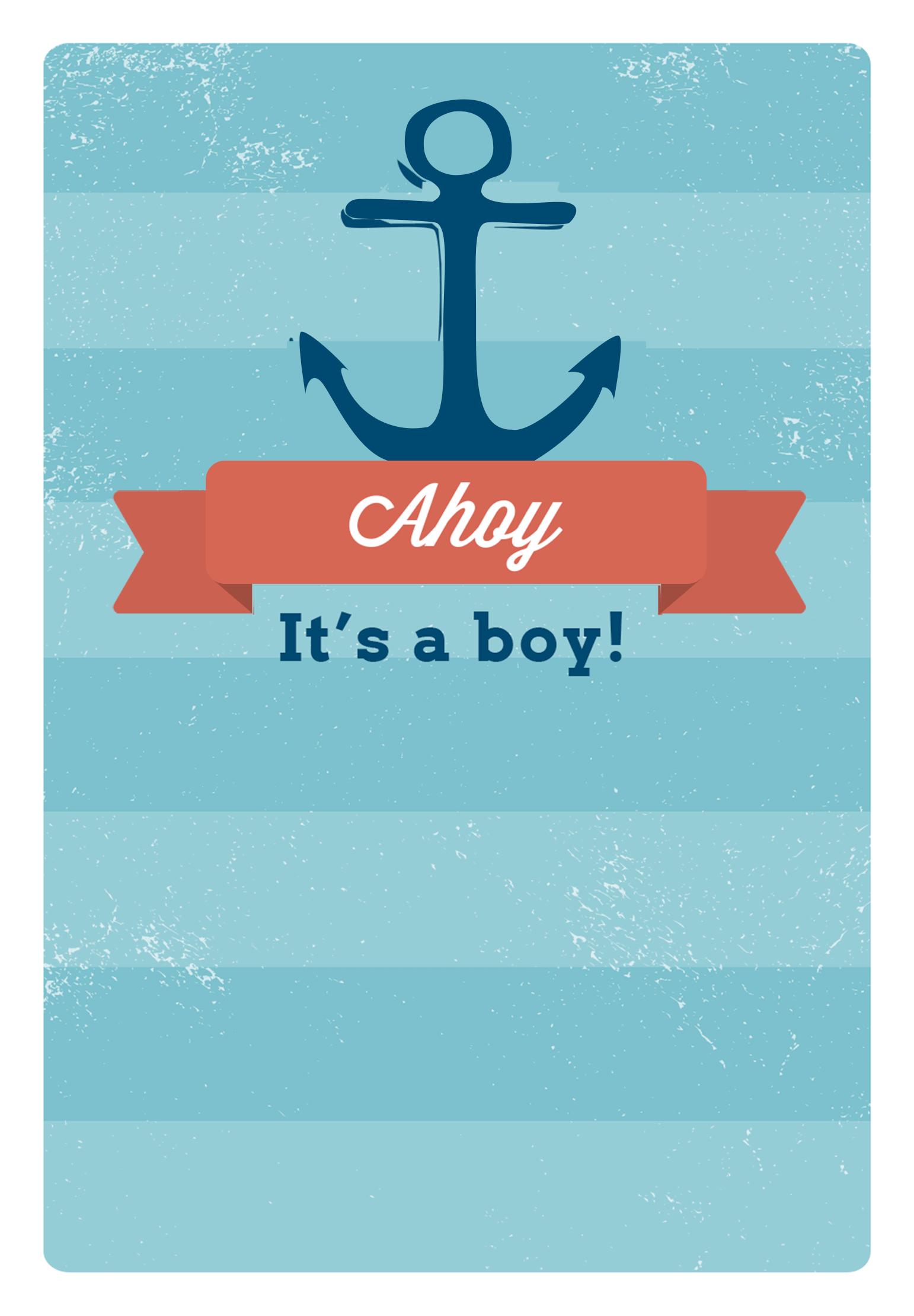 Ahoy It S A Boy