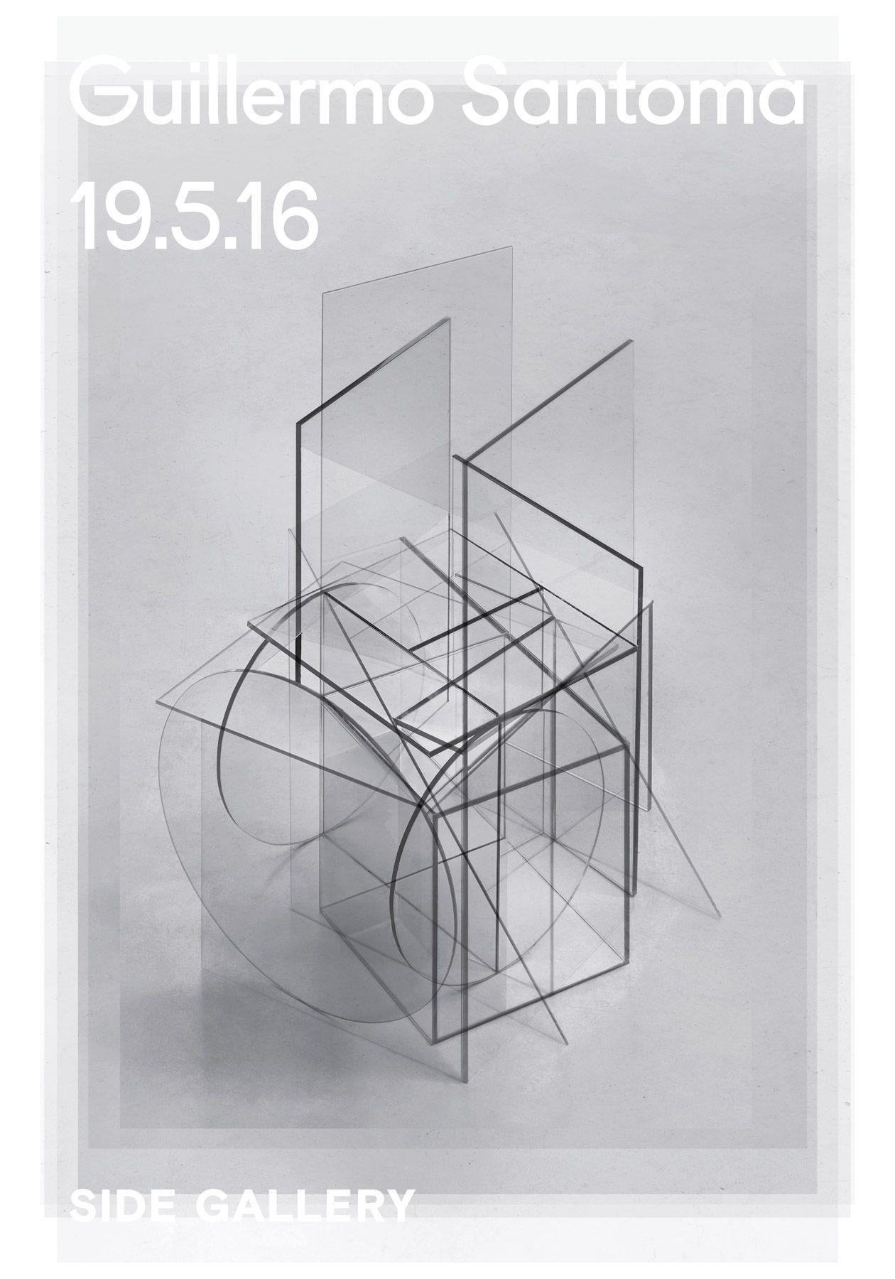 2016. Cartel para la exposición de Guillermo Santomà en Side Gallery.