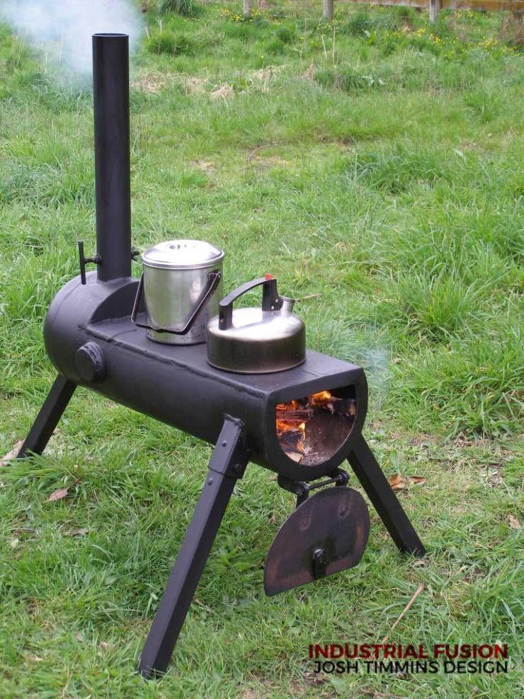 Estufa a le/ña port/átil hornillo para camping