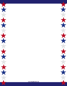 Two Blue Stripes And Long Lines Of Red White Stars Decorate This Printable