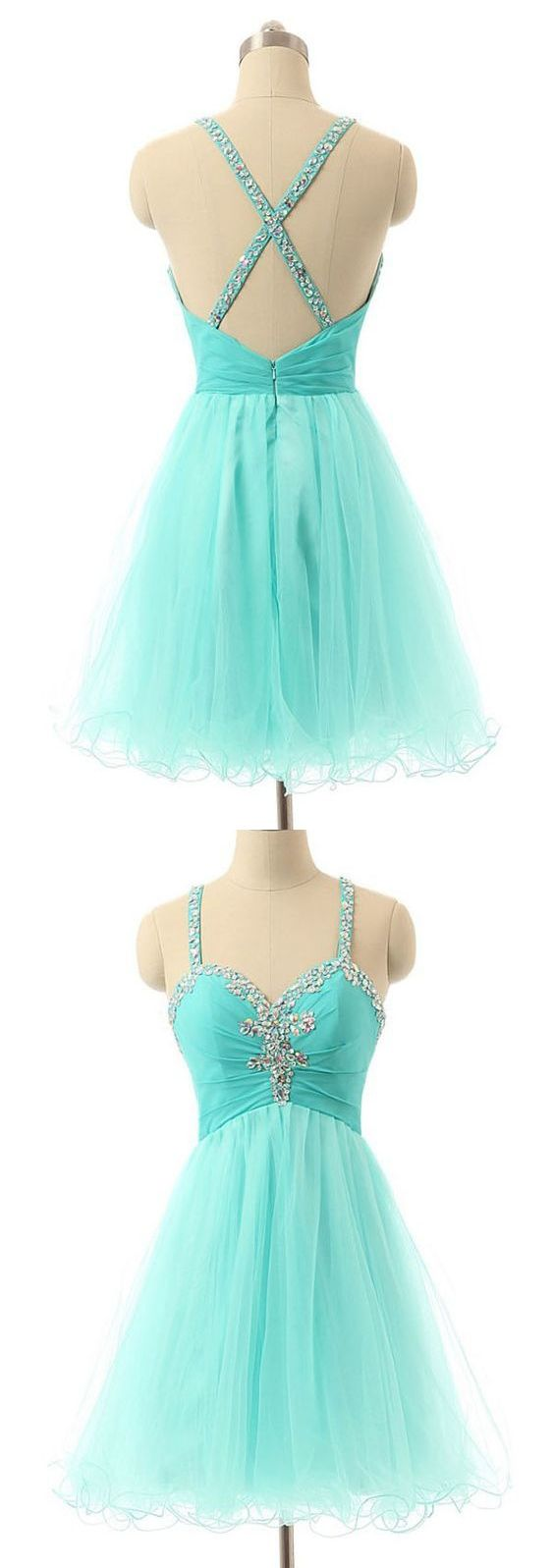 Sexy homecoming dress spaghetti straps aline short prom dress sage