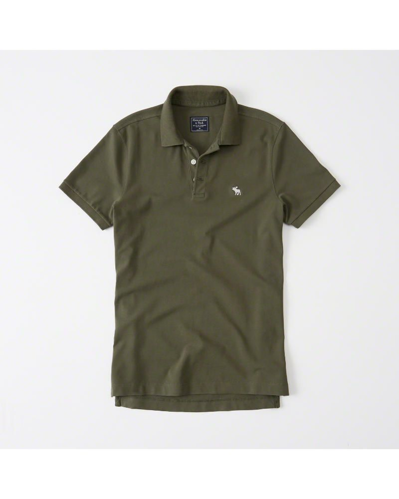 79a02fc54 A F Men s Stretch Icon Polo in Olive Green - Size XXL