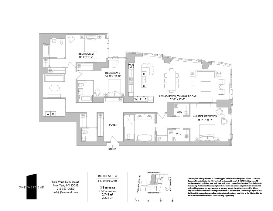 For Sale 1 West End Ave 17a In Lincoln Square Floor Plans New York City Apartment West End