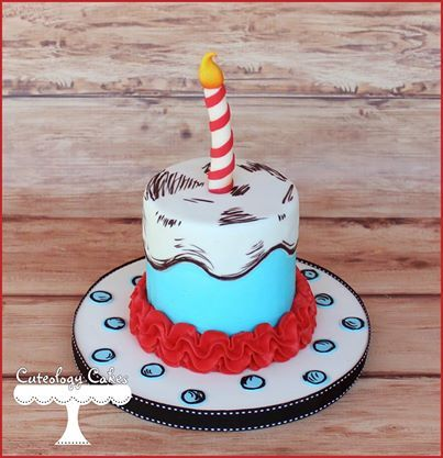 Dr Seuss Smash Cake With Images Dr Seuss Cake Dr Seuss