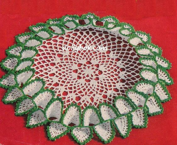 Free Vintage Crochet Tailored Ruffled Doily Pattern Doiley