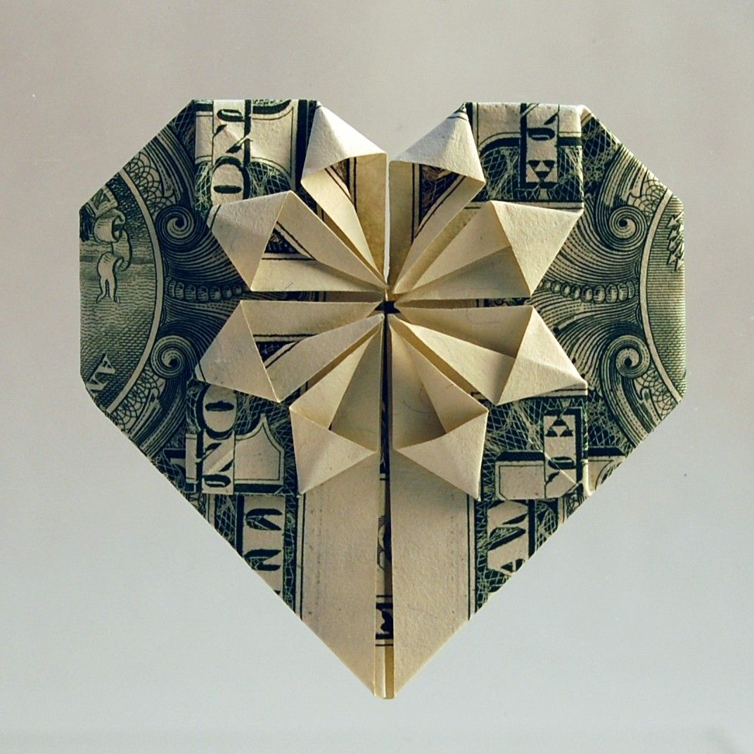 We made these for valentines day last year just with scrapbook items similar to heart dollar origami on etsy jeuxipadfo Images