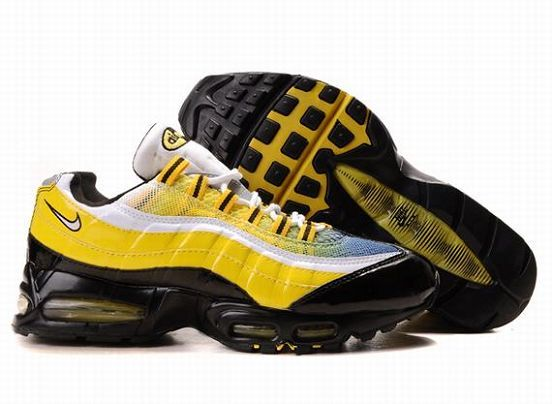 Men Nike Air Max 95 Yellow Black White Cheap,sale nike air