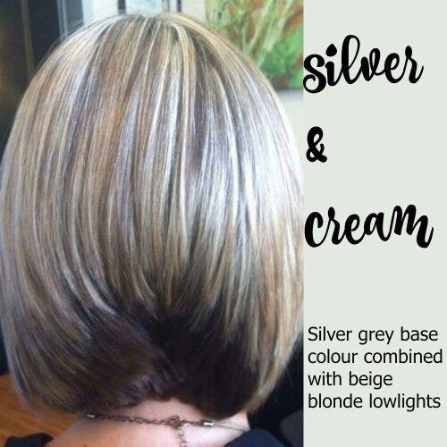 Silver Cream Hair Hair Cream Gray Hair Highlights Blending