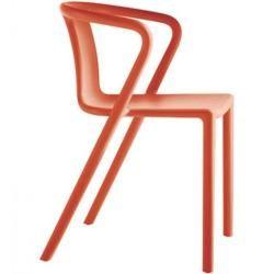 Photo of More Stapelsessel Air orange designer Jasper Morrison, 77.5x53x50.5 cm More