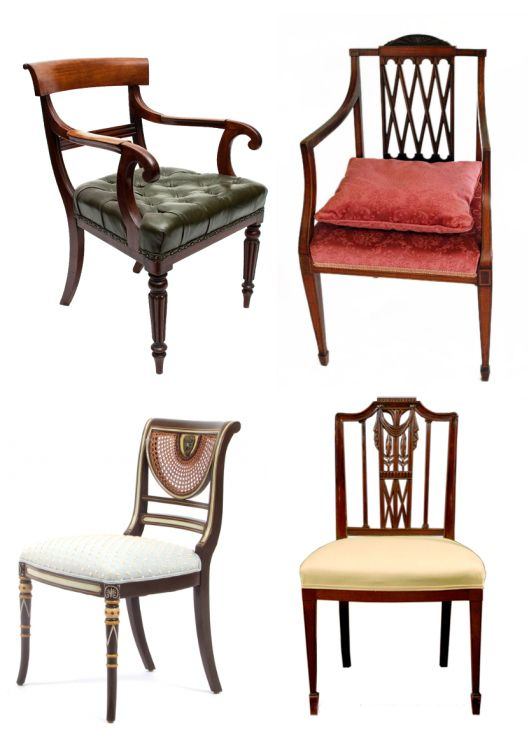 Sheraton style chairs res sillas chairs pinterest for What is sheraton style furniture
