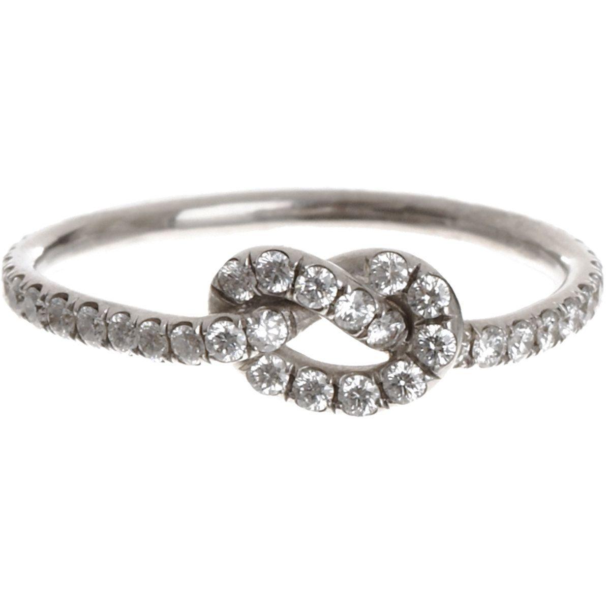 finn diamond love knot ring my style pinterest