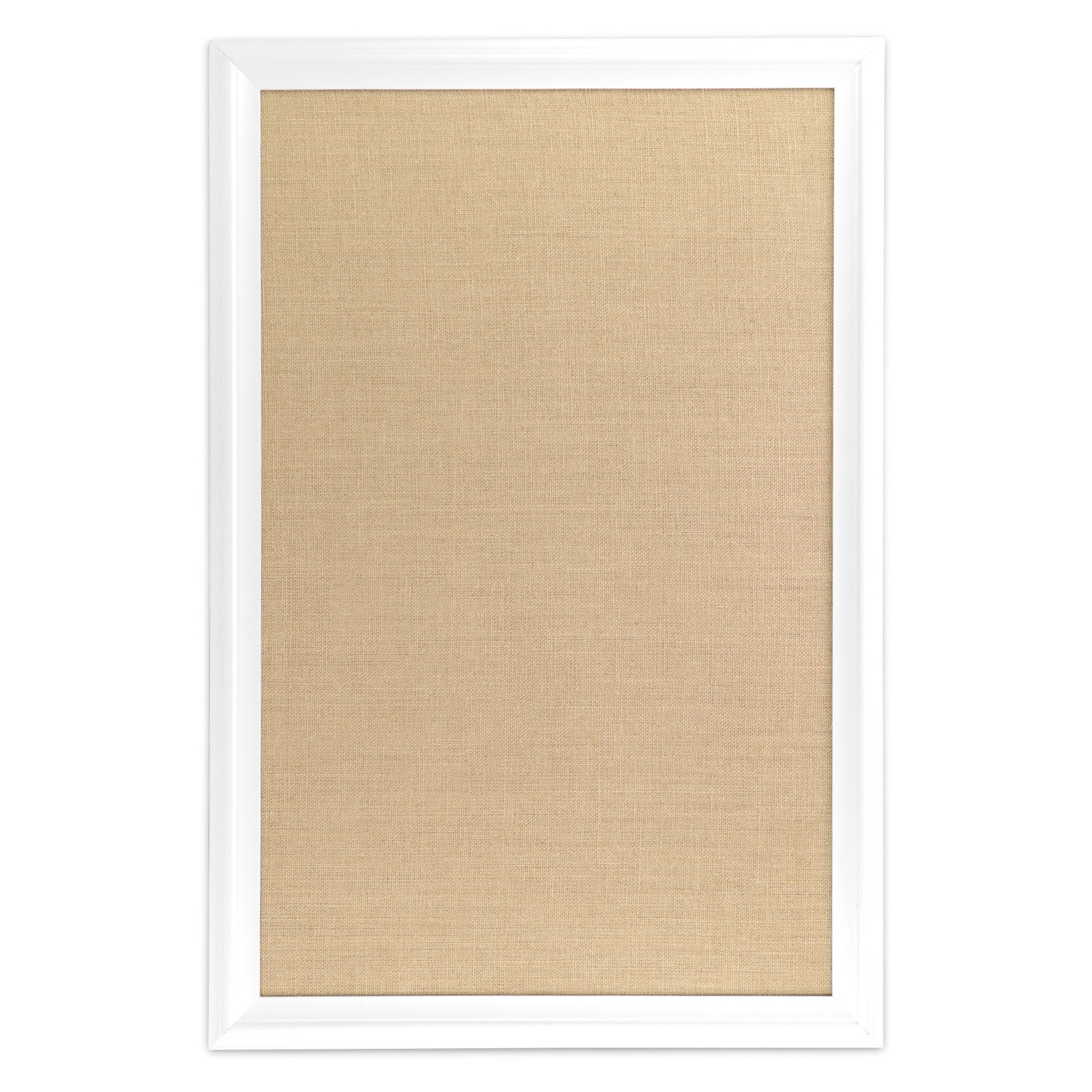 Ubrands White Wood Frame Burlap Bulletin Board - 20\