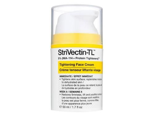 Introducing StriVectin tightening face cream featuring the breakthrough NIA-114 molecule that powers our #1 selling neck cream. This rich nourishing anti-ageing cream features StriVectin's exclusive three-tiered technology that works from within first tightening skin's surface then fortifying the skin matrix. Finally NIA-114 strengthens skin's ability to hold natural collagen. So facial contours look lifted firmer-more youthful. 1.7 oz (50 ml)