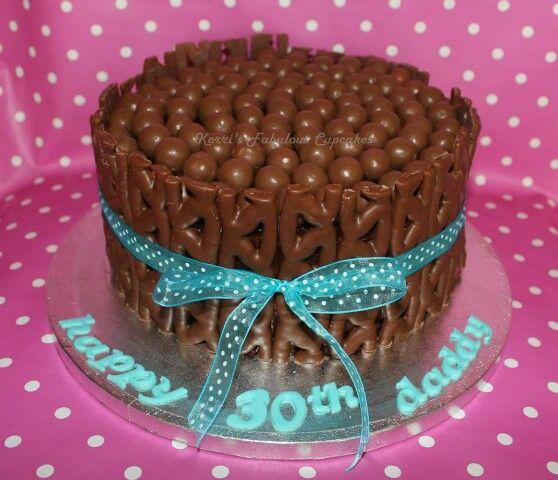 Curly Wurly Birthday Cake