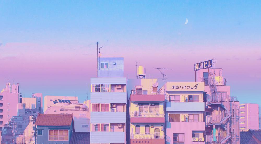 Background Ppt Pastel Landscape Background Ppt Pastel Pemandangan Anime Latar Belakang Latar Belakang Anime