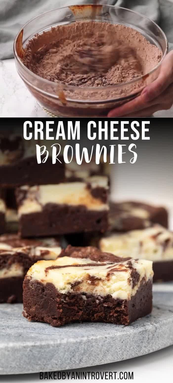 Photo of Swirled Cream Cheese Brownies