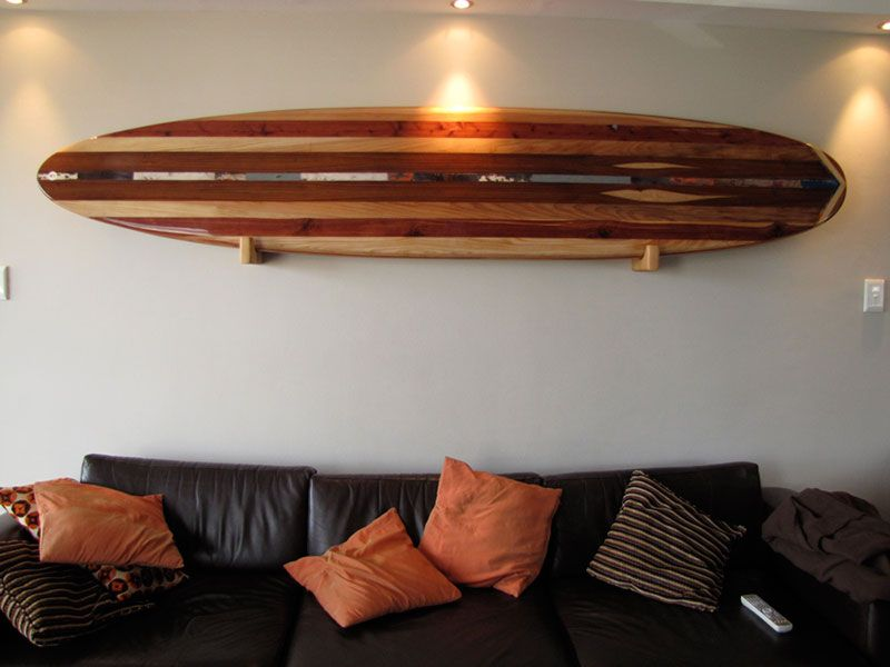 Wooden Surfboard Wall Decor