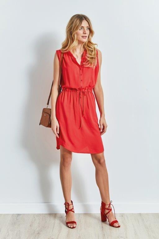 Top Secret Czerwona Sukienka Koszulowa Red Dress Fashion Summer Dresses Dresses