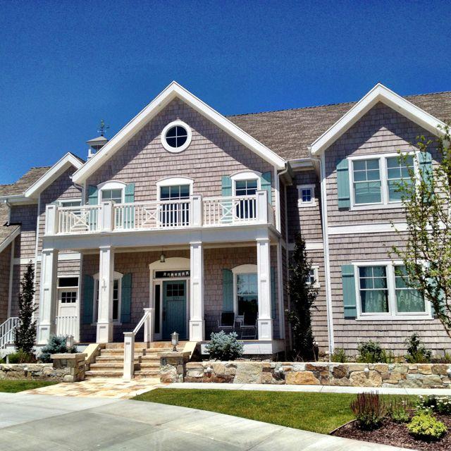 Best Found My Dream House Light Gray Shingles And Aqua Doors 400 x 300