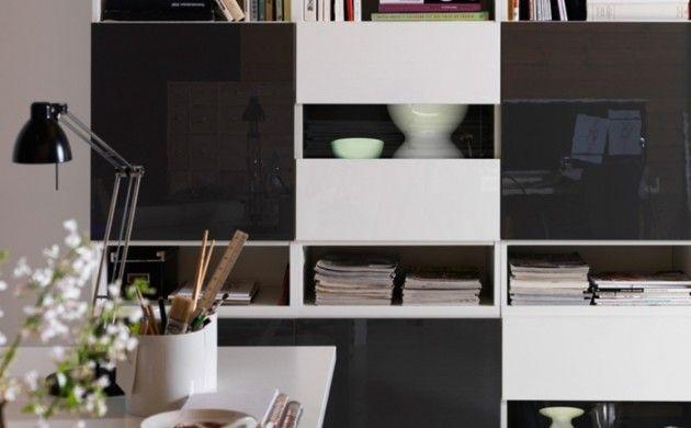 Besta Fronten ikea wohnwand besta modell weiß schwarz hochglanz fronten ikea