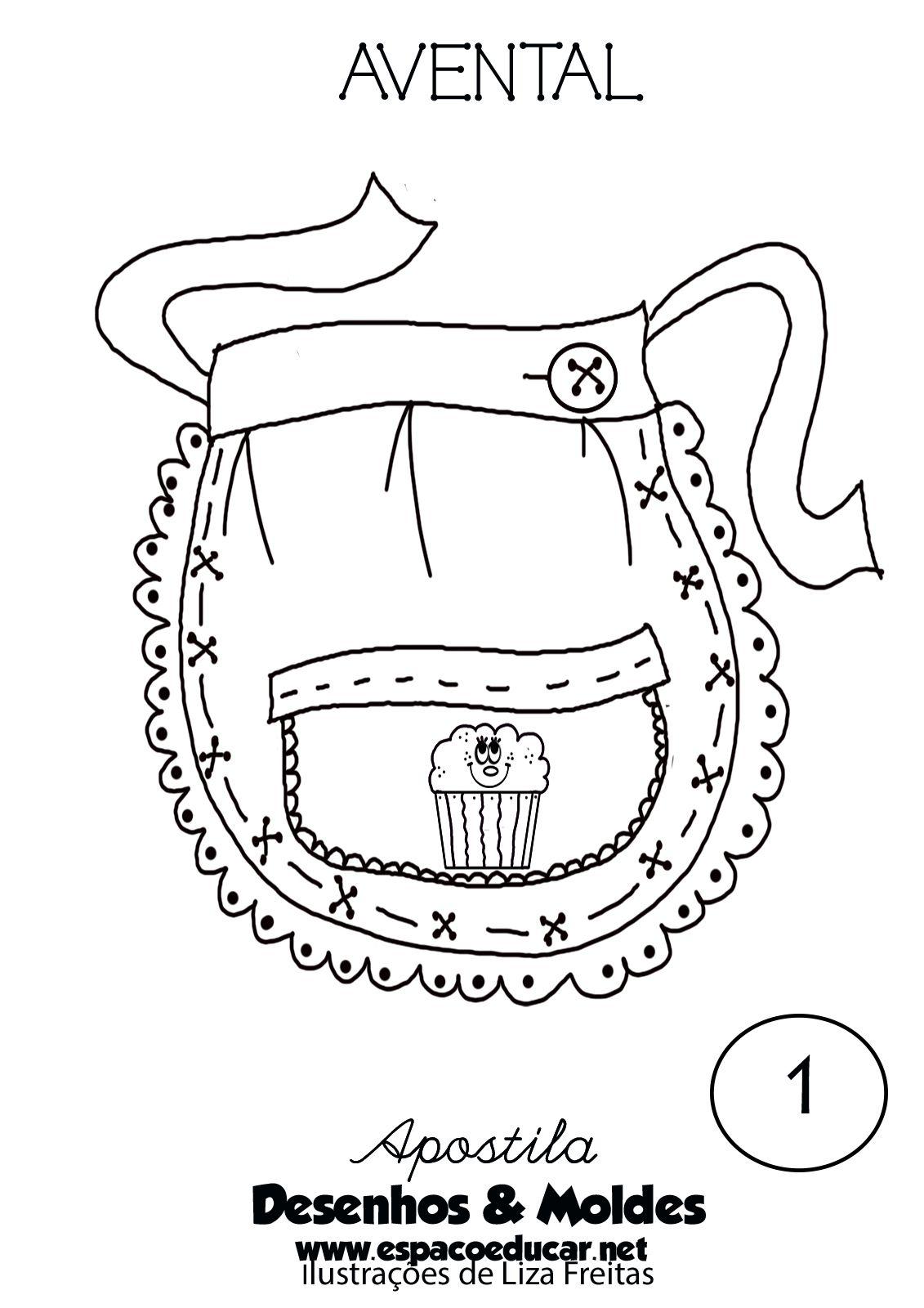 Desenho De Avental Para Colorir Pintar Imprimir Espaco Educar