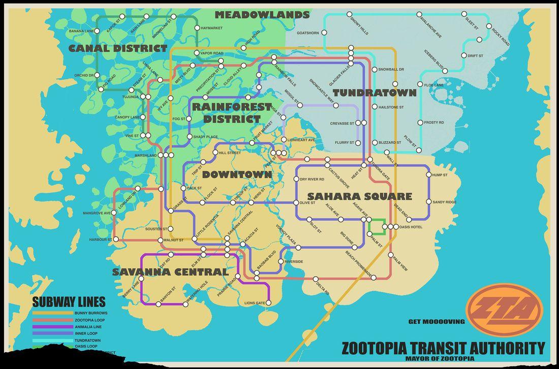 Disney Movie Map on