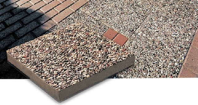 Exposed Aggregate patio stone is designed for outdoor living and provides  the look of natural beauty. With tiny stones embedded in a strong concrete  base, ... - Exposed Aggregate Patio Stone Is Designed For Outdoor Living And
